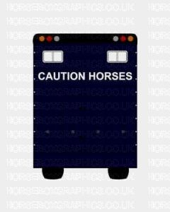 caution Horses in gold
