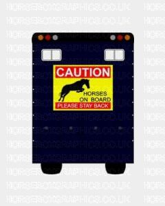 Caution Horses On Board Please Stay Back Sticker for Lorries / Trailers /Horsebox