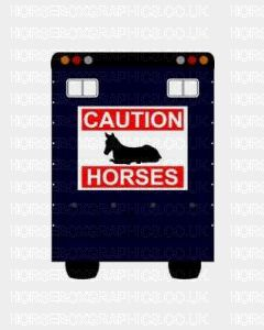 Caution Horses With Horse Sticker for Lorries / Trailers /Horsebox