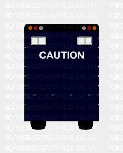 Caution Sticker for Lorries / Trailers /Horsebox (Choice of fonts)