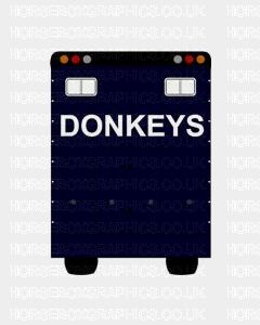 Donkeys Lettering Sticker for Lorries / Trailers /Horsebox (Choice of fonts)