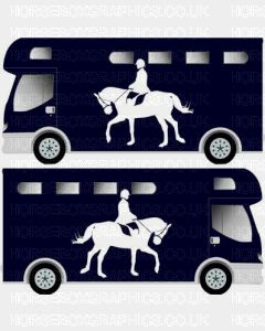 Dressage Horse and Rider Self Adhesive Sticker 1