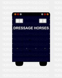 Dressage Horses Sticker for Lorries / Trailers /Horsebox (Choice of fonts)