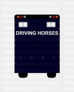 Driving Horses Sticker for Lorries / Trailers /Horsebox (Choice of fonts)
