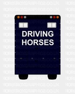 Driving Horses Sticker for Lorries / Trailers /Horsebox (Choice of fonts) Two Lines