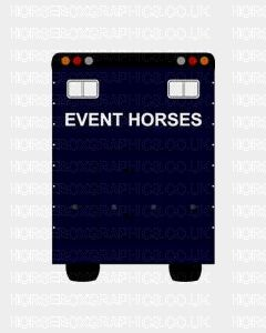 Event Horses Sticker for Lorries / Trailers /Horsebox (Choice of fonts)