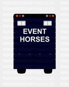 Event Horses Sticker for Lorries / Trailers /Horsebox (Choice of fonts) Two Lines