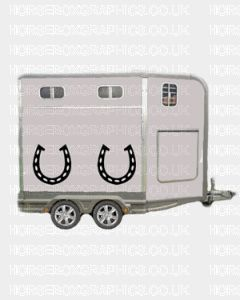 Lucky Horse shoes Stickers