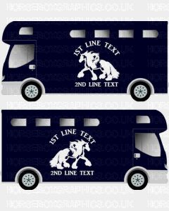 Horses and Text Design Self Adhesive Sticker 13