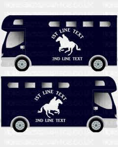 Horses and Text Design Self Adhesive Sticker 14