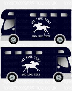Horses and Text Design Self Adhesive Sticker 15