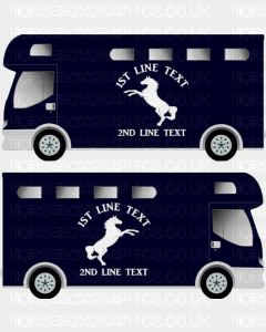 Horses and Text Design Self Adhesive Sticker 16