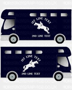 Horses and Text Design Self Adhesive Sticker 19