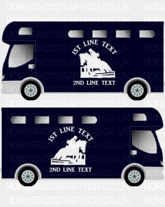 Horses and Text Design Self Adhesive Sticker 22