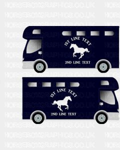 Horses and Text Design Self Adhesive Sticker 21