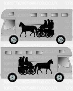 Horse and Carriage sticker Design 1
