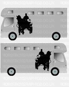 Horse and Carriage sticker Design 2