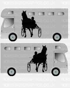 Horse and Carriage sticker Design 3
