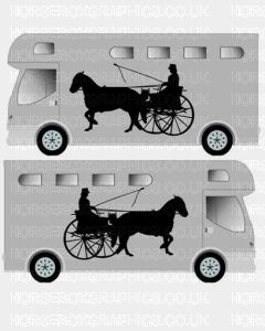 Horse and Carriage sticker Design 4