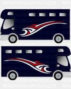 Horsebox Trailer Decorative Stripe Sticker 5