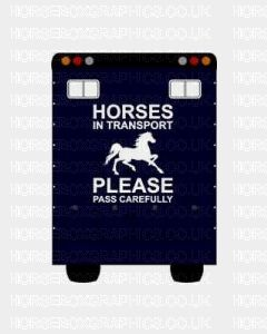 Horses In Transport Please Pass Carefully Sticker for Lorries / Trailers /Horsebox