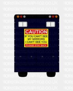 Caution If You Can't See My Mirrors Sticker for Lorries / Trailers /Horsebox