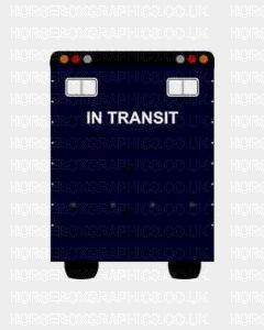 In Transit Sticker for Lorries / Trailers /Horsebox (Choice of fonts)