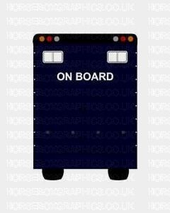 On Board Sticker for Lorries / Trailers /Horsebox (Choice of fonts)
