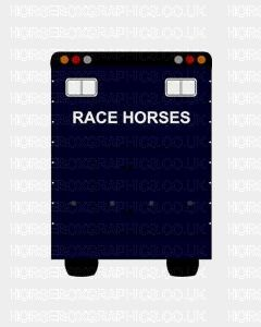 Race Horses Sticker for Lorries / Trailers /Horsebox (Choice of fonts)