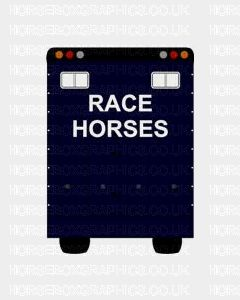 Race Horses Sticker for Lorries / Trailers /Horsebox (Choice of fonts) Two Lines