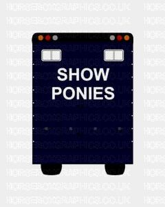 Show Ponies Sticker for Lorries / Trailers /Horsebox (Choice of fonts) Two Lines