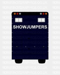 Showjumpers Sticker for Lorries / Trailers /Horsebox (Choice of fonts)