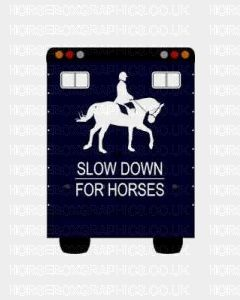 Slow down For Horses Sticker for Lorries / Trailers /Horsebox