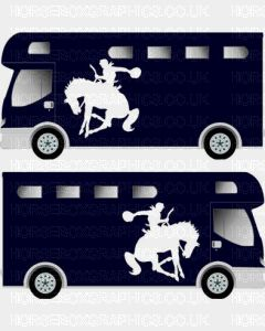 Sporting Horse Silhouette Sticker 4