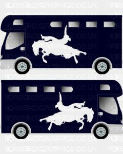 Sporting Horse Silhouette Sticker 8
